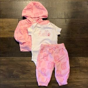 Baby girl three piece outfit.